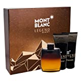 Montblanc Legend Nîght 3 Pcs Set for Men 3.3 fl.oz Eau De Parfum + 3.3 fl.oz After Shave Balm + 3.3 fl.oz All-Over Shower Gel
