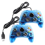 Replacement Controller for Microsoft Xbox Original S-Type Blue (2-Pack) (Color: Blue)