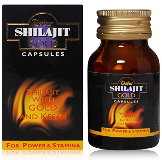 Dabur Shilajit New Improved Gold   20 Capsules with Free Shila X Oil Worth Rs 150 available at Amazon for Rs.330