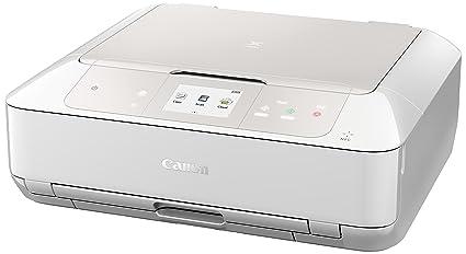 Canon MG 7751 Pixma Imprimante Multifonction Jet d'Encre Couleur 15 ppm Wi-Fi Blanc