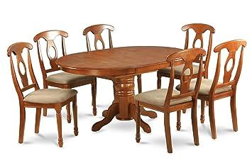 East West Furniture AVNA5-SBR-C 5-Piece Dining Table Set