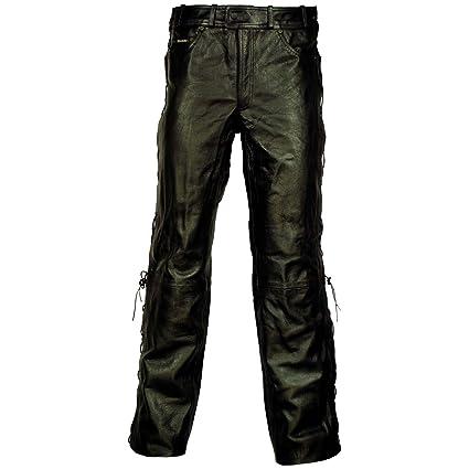 Modeka bRIGHTON pantalon en cuir lacé-noir