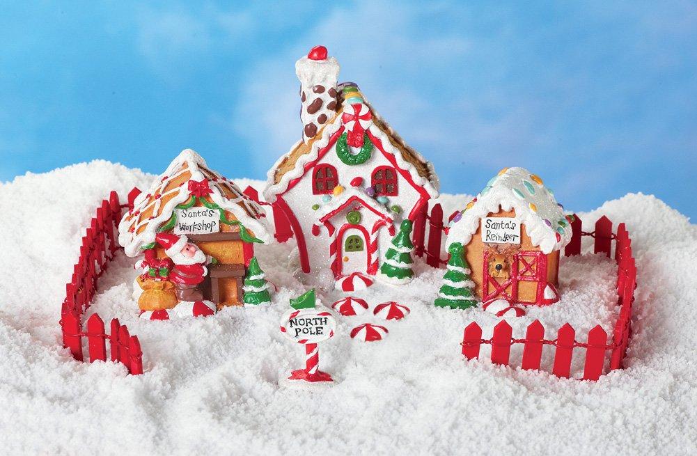 Collectible Santa's Candy Village - 6 Pc