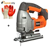 RIDGID 18-Volt X4 Cordless Jig Saw Console R8831B and Toucan City Nitrile Dip Gloves(5-Pack)