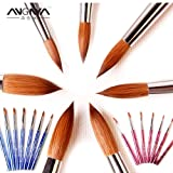 Best Quality - Nail Brushes - New 1pcs #2#4#6#8#10#12#14#16#18#20#22 Kolinsky Sable Brush Acrylic Nail Art Brush Pink Metal Crystal Acrylic Salon - by Robeu (Color: blue size8)