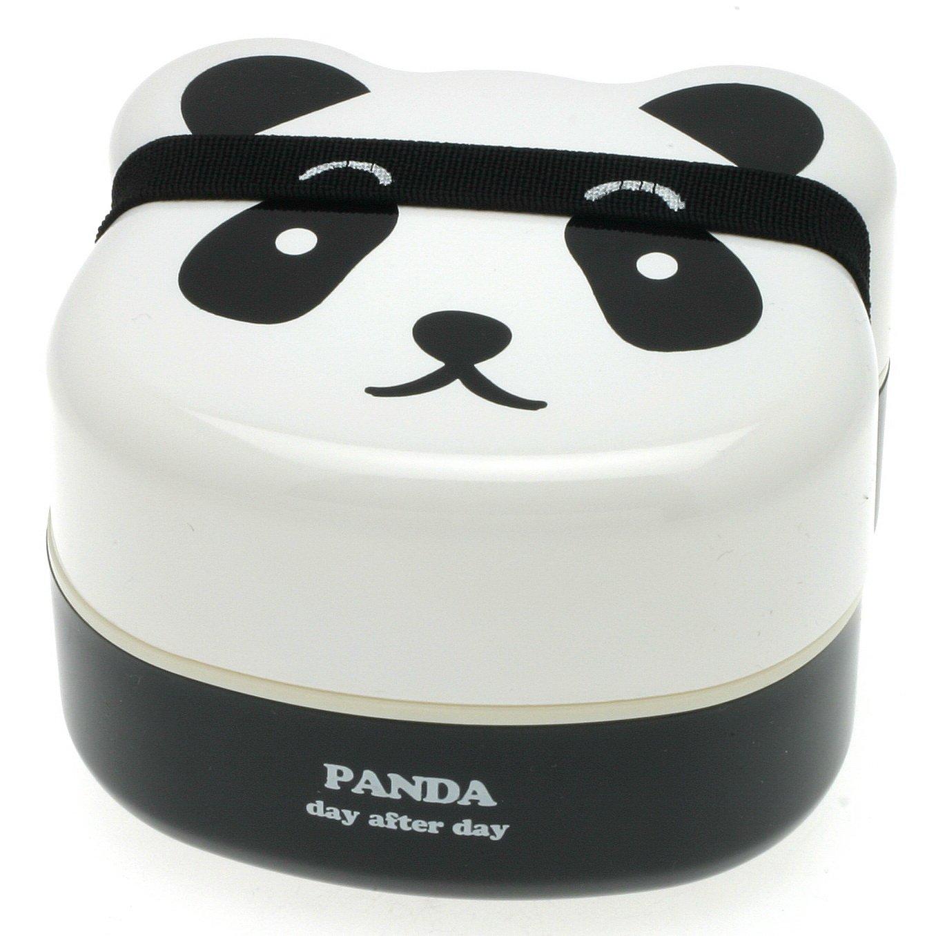 kotobuki 2 tier bento box panda cute divider compartment lunch container stack. Black Bedroom Furniture Sets. Home Design Ideas