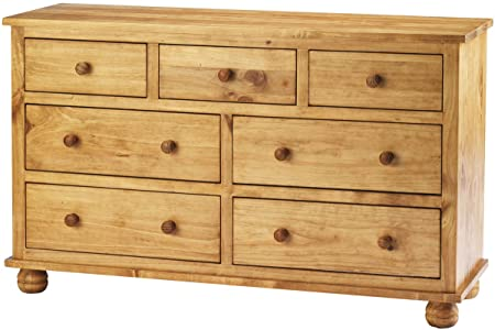 Ultimum Avon Solid Pine Three Over Four Chest of Drawers