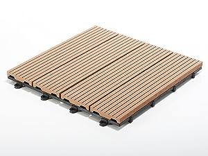 Terrassenfliesen Set Timber, braun | Menge wählbar, 33 Stück  3m²  BaumarktKundenbewertung und weitere Informationen