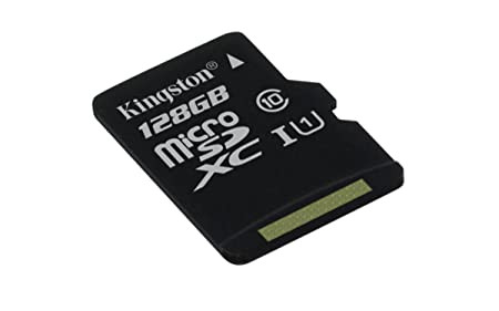 Kingston SDC10G2/128GBSP Carte MicroSD de 128GB (Classe 10 UHS-I 45MB/s) Carte Seule
