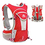 TRIWONDER Hydration Pack Backpack 12L Professional Outdoors Mochilas Trail Marathoner Running Race Hydration Vest (Red - Only Vest) (Color: Red - Only Vest, Tamaño: Large)