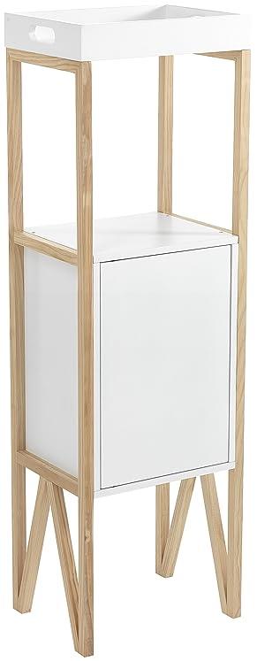 Wink Design Varm Colonna, Legno, Bianco, 40 x 30 x 129 cm