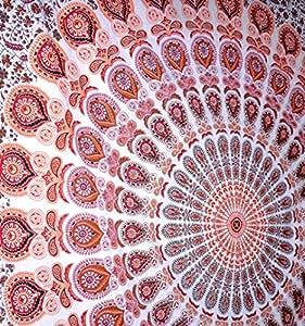 Rawyal indien brod motif paon mandala de d coration for Decoration murale mandala