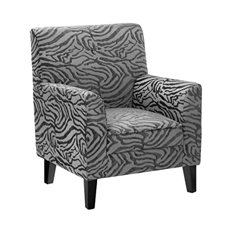 Protege Homeware Grey Textured Animal Print Luxe Chair