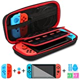 Topleader Nintendo Switch Case for Carry and Travel, 5 in 1 Starter Kits for Nintendo Switch