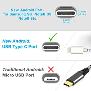 USB C Cable USB Type C Cable 3FT 6FT 6FT 10FT Durable Fast Charging Cord Nylon Braided Compatible with Samsung Galaxy S10E S10 S9 S8 Plus Note 9 Pixel