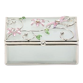 NOUVEAU Avon Sterling Silver Quartz Rose Fleur Anneau Taille 10
