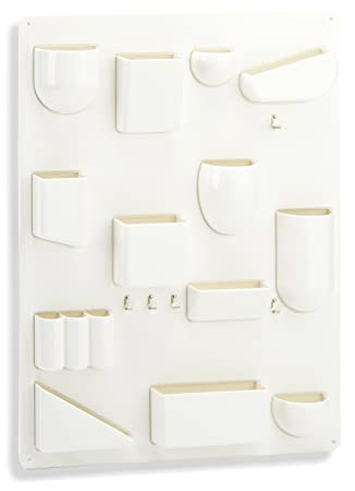 Vitra Uten.Silo II 20129501 Storage Board for Small Items ABS Plastic / Metal Hooks / 680 x 520 x 65mm White