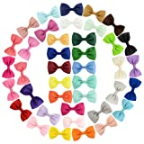 YHXX YLEN 20Pcs Small Baby Hair Bows Ribbon Clips for Girls Toddlers Kids (643 40 pcs) (Color: 643 40 Pcs, Tamaño: Small)