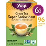 Yogi Tea - Green Tea Super Antioxidant - Helps Reduce Free Radicals - 6 Pack, 96 Tea Bags Total (Tamaño: Pack of 6)