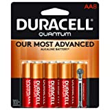 Duracell Quantum AA Alkaline Batteries - Long Lasting, All-Purpose Double A Battery for Household and Business - 8 Count (Color: Quantum, Tamaño: AA)