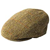 Failsworth Millinery Stornoway Harris Tweed Flat Cap (Latest Version) in Pattern 9046 - Taupe, Size: Medium (57cm) (Color: Pattern 9046 - Taupe, Tamaño: Medium (57cm))