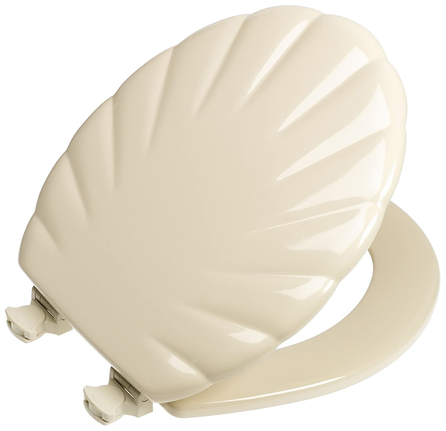 Mayfair 22ec 006 Shell Sculptured Molded Wood Toilet Seat With Lift Off Hinges Ebay