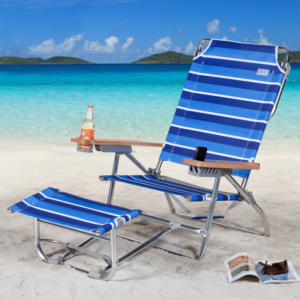 Rio Brands Big Kahuna Beach Chair With Foot Rest