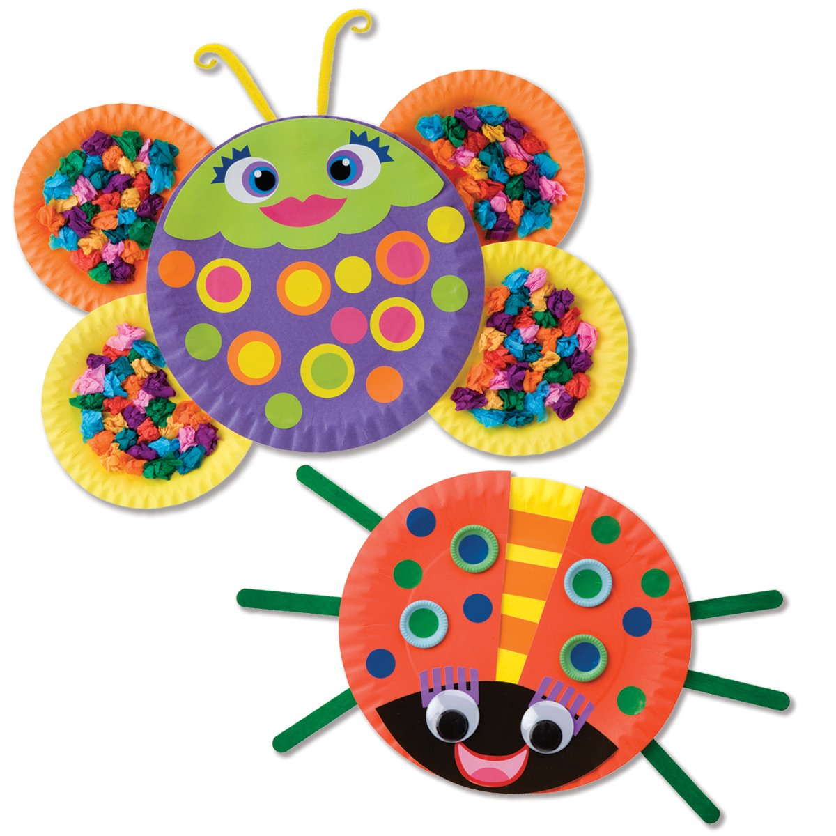Awesome kid s craft find alex toys paper plate bugs for Art and craft for kids from waste material