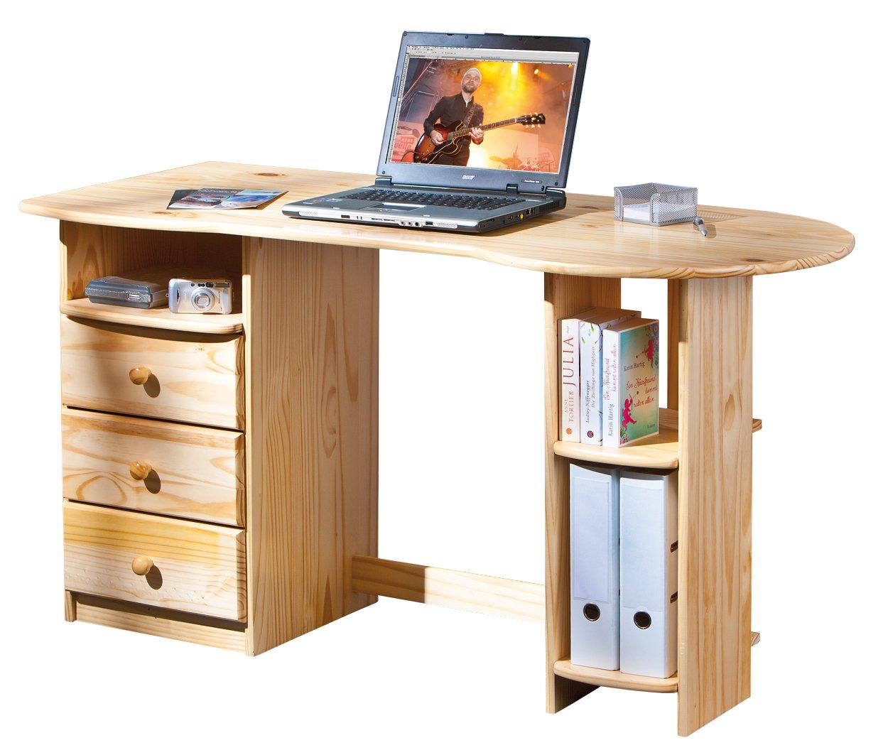 Links 30600570 Schreibtisch Computertisch PC-Tisch Bürotisch Tastaturauszug massiv 3 Schubladen jetzt kaufen