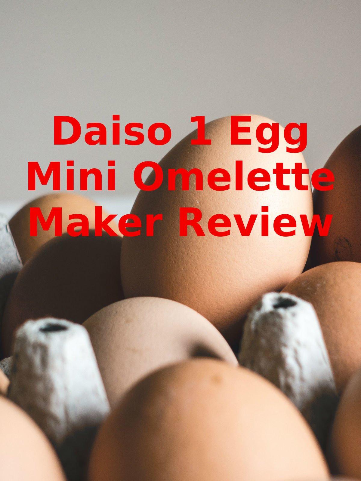 Review: Daiso 1 Egg Mini Omelette Maker Review