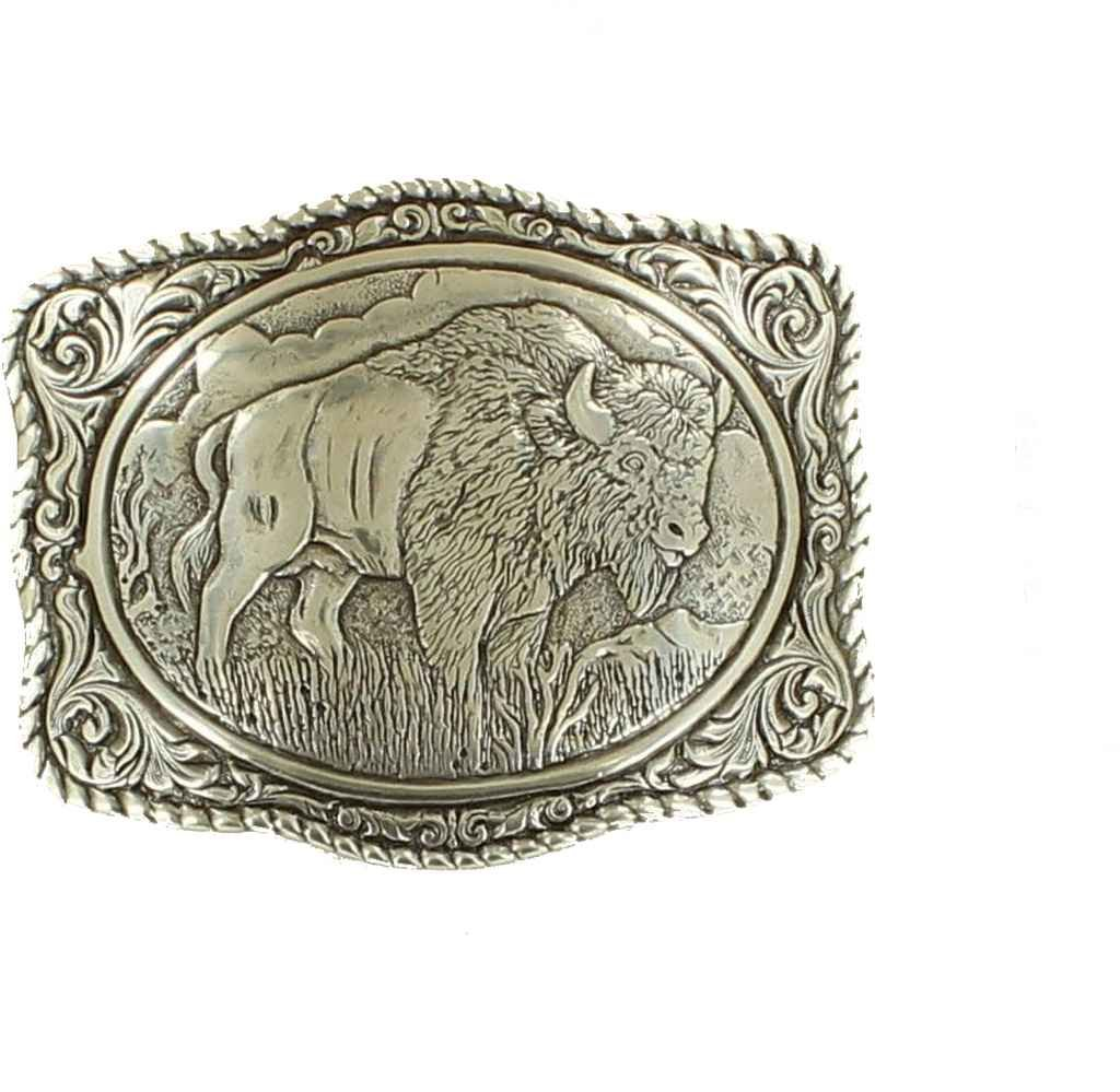 Crumrine Men's Vintage Buffalo Belt Buckle - 38058 0