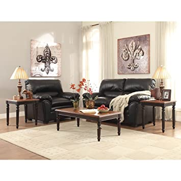 Pitman 3 Piece Coffee Table Set in Black Cherry by Homelegance