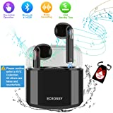 Wireless Earbuds,Bluetooth Earbuds Stereo Wireless Headphones In Ear Earphones Mini Earpieces with Microphone & Charging Case for iPhone X 8 Plus 7 6 6s 5 iOS Samsung Galaxy Android Phones Black (Color: IPX-black)