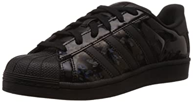 adidas Originals Women's Superstar W Black and White Sneakers
