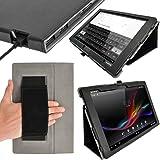 iGadgitz Premium Folio Black PU Leather Case Cover for Sony Xperia Z 10.1