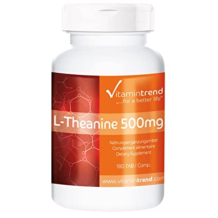 L-Theanin 500mg - 180 Tabletten - Großpackung fur 1/2 Jahr - Brainbooster - Reinsubstanz