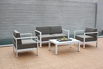 talfa Alu Gartenmöbel Sitzgruppe Toledo - weiß