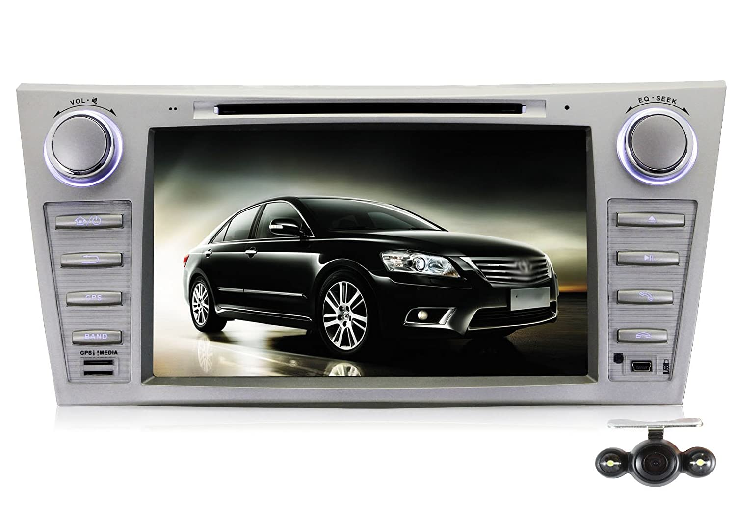 Pumpkin 8 inch for Toyota Camry/Aurion 2007-2011 2DIN In Dash HD Touch Screen Car DVD Player GPS Navigation Stereo Support Bluetooth/SD/USB/Ipod/FM/AM Radio/DVR/3G/AV-IN/1080P with Free Reverse Backup Camera as Gift free shipping car refitting dvd frame dvd panel dash kit fascia radio frame audio frame for 2012 kia k3 2din chinese ca1016