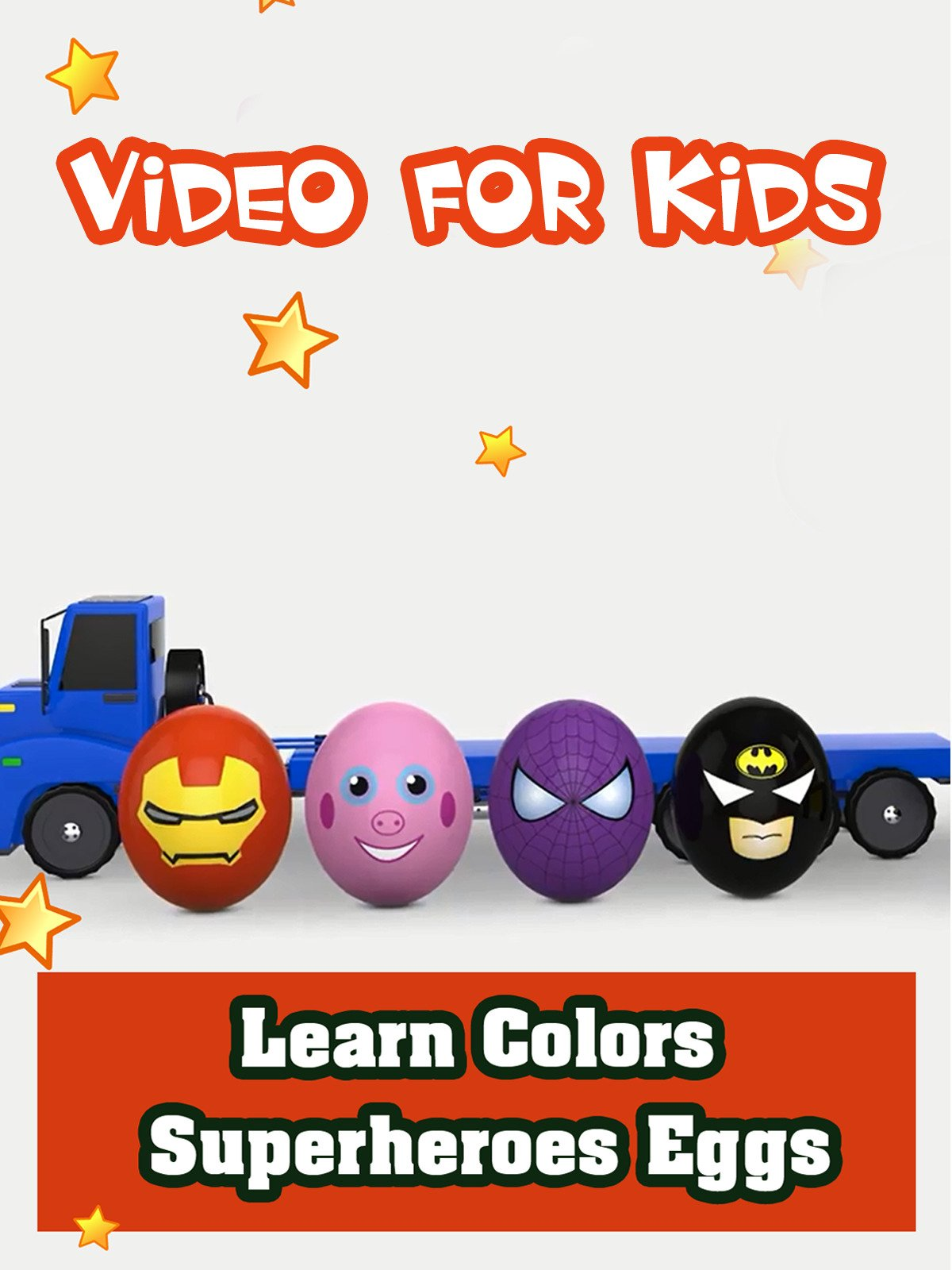 Learn Colors With Super Heroes Eggs