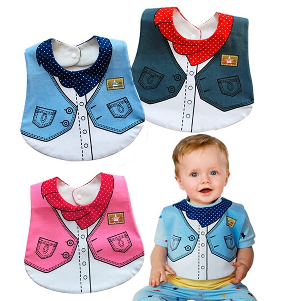 E'Plaza® 3pcs 3-layer Waterproof Cowboy Baby Boys Infant Bandana Dribble Bib Bundle Cute Lovely Cartoon Design for Party шлифмашина bosch pss 200 ac 0603340120