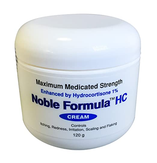 Noble Formula Hydrocortisone Cream with Pyrithione Zinc (Znp) .25% Enhanced By Hydrocortisone 1%, 4oz (120 Ml)
