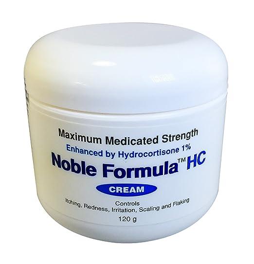 Noble Formula Hydrocortisone Cream with Pyrithione Zinc (Znp) .25% Enhanced By Hydrocortisone 1%, 4oz (120 Ml)