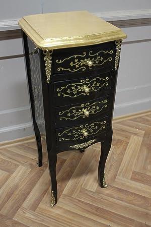 inodoro barroca gabinete negro Louis XV AaKm0111 estilo antiguo