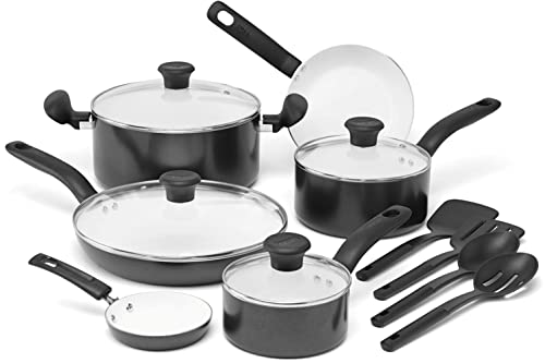 ​T-Fal C921SE Initiatives Ceramic Nonstick Cookware Set