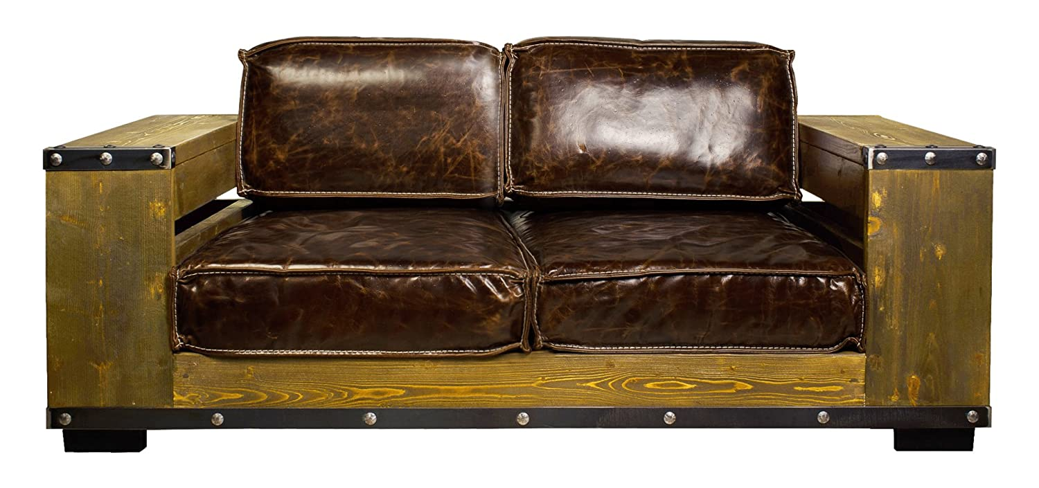 The Wood Times 15-CN2001/2 Ledersofa