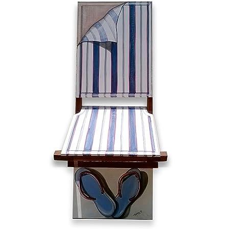 """Spazio Libero Torino - La scomoda """"Beach chair"""". Servomuto pieghevole in legno"""