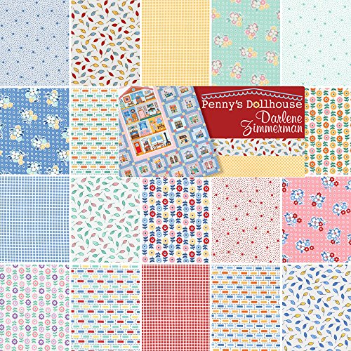Darlene Zimmerman PENNYS DOLLHOUSE Precut 5-inch Charm Pack Cotton ... : cotton fabric quilting - Adamdwight.com
