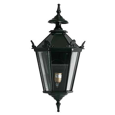 Lanterna da giardino in alluminio verde elettrico lampada da parete illuminazione giardino stile antico 66cm