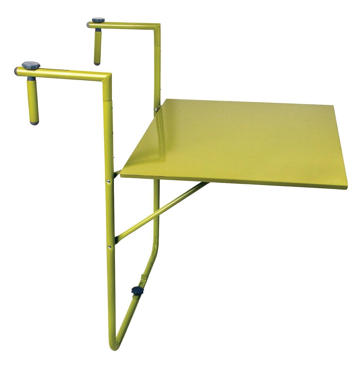 Esschert Design Balkontisch, Klapptisch in grün, zur Befestigung am Balkongeländer, ca. 60 cm x 76 cm x 83 cm günstig bestellen