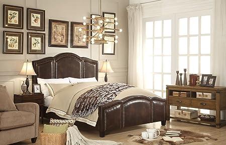 Millbury Home Belita Espresso Upholstery Bed